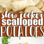 scalloped potatoes collage