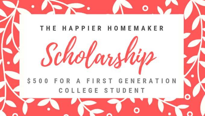 graphic the happier homemaker scholarship $500