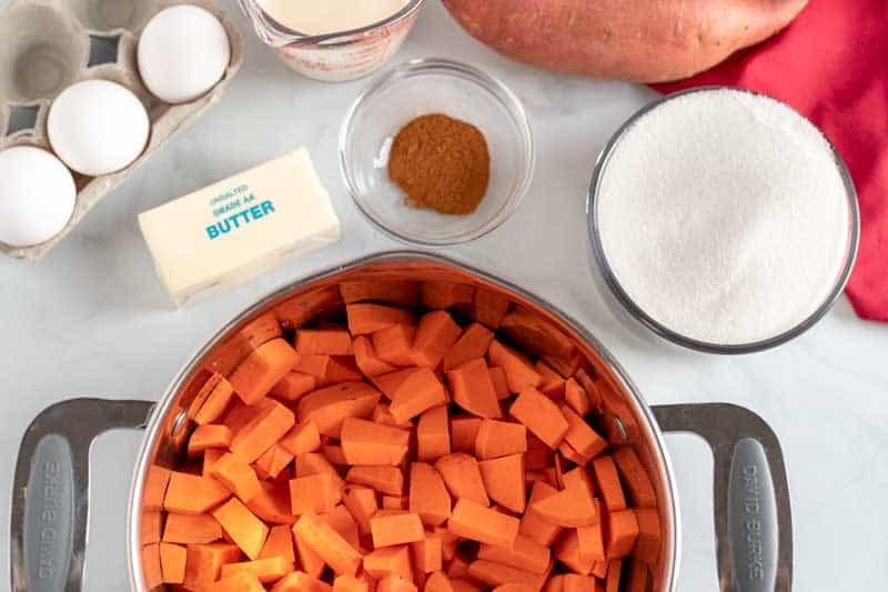 old fashioned sweet potato pie ingredients