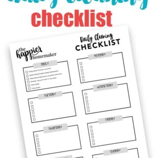 A printable weekly checklist