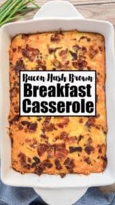 breakfast casserole in white dish