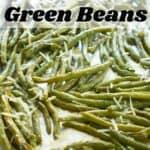 parmesan roasted green beans on baking sheet