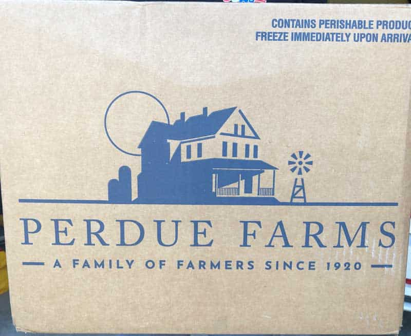 perdue farms cardboard box