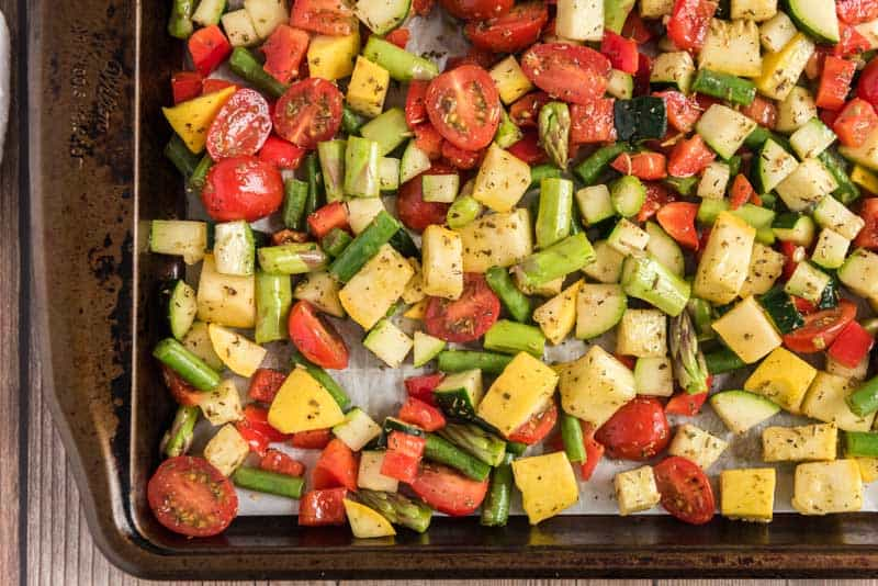 roasted veggies for pasta primavera