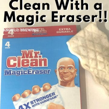 magic eraser with box and text reading everything you can clean with a magic eraser