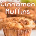 close photo of cinnamon apple muffin