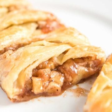 sliced braided apple danish