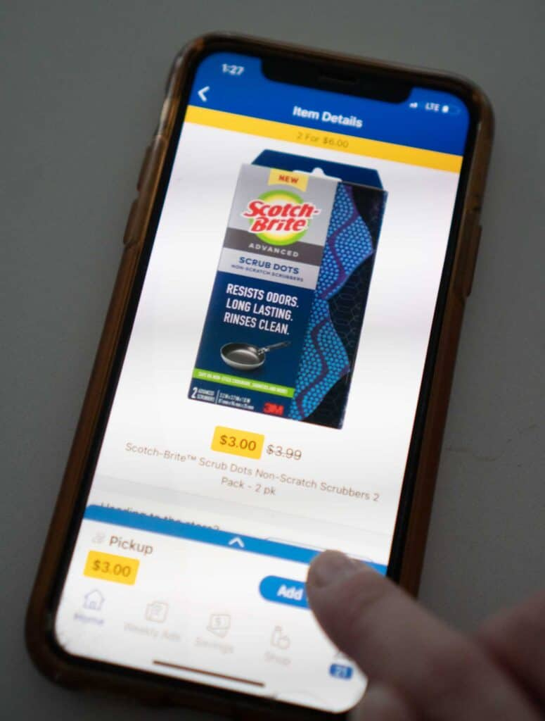 iphone with Kroger shopping app