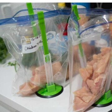 chicken in freezer bags for meal prep