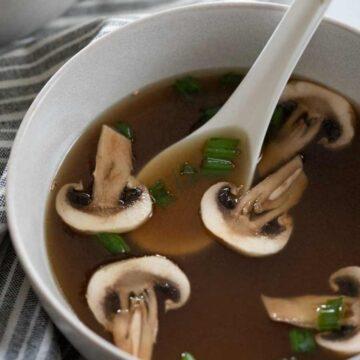 hibachi clear soup