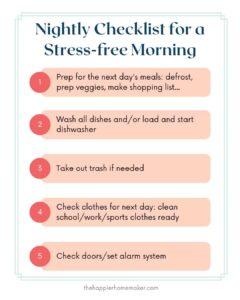 printable nightly checklist