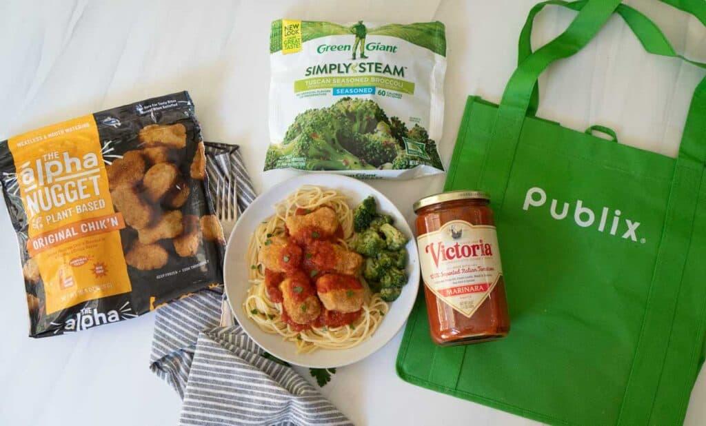 "vegan ""chicken"" marinara ingredients"