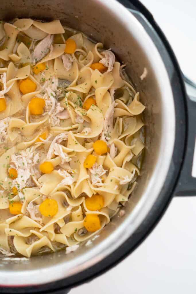 chicken noodle soup in instant pot